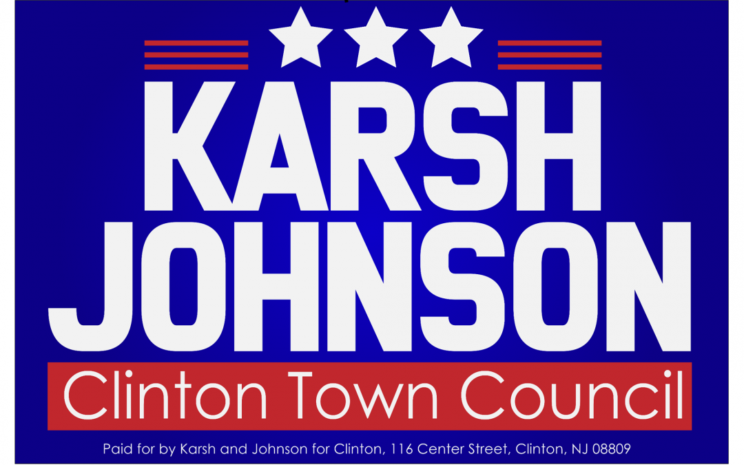Two Candidate, Bold Yard Sign