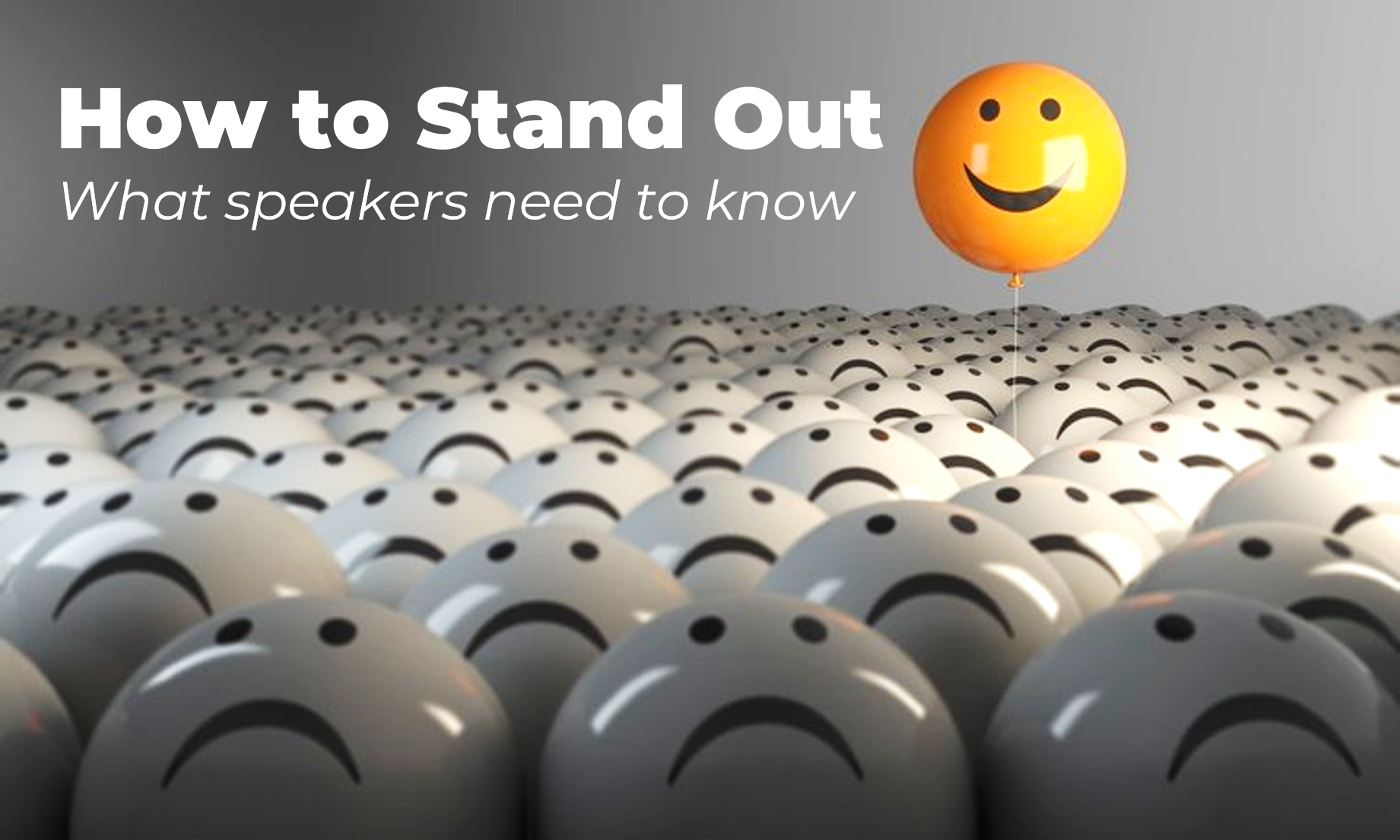 Keynote Speakers Standing Out - www.visualbreakthroughs.com